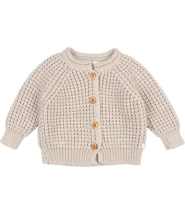Soft knit cardigan - natural