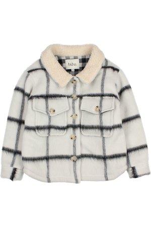 Buho Check overschirt jacket - ecru
