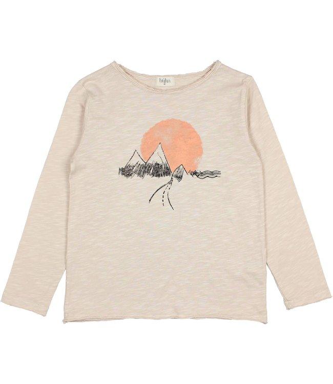 Buho Mountains t-shirt - stone