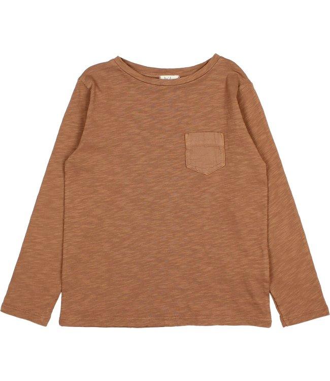 Pocket t-shirt - muscade