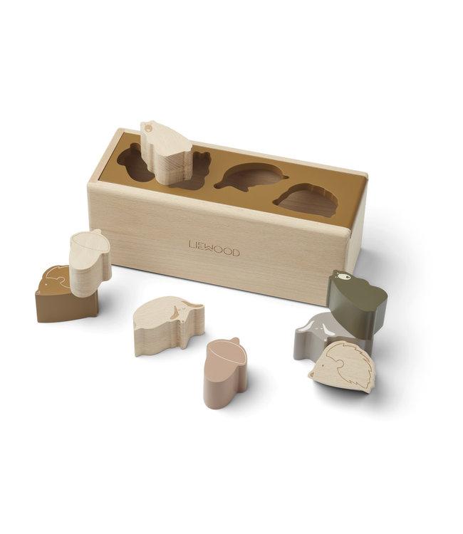 Liewood Midas puzzle box - friendship golden caramel multi mix