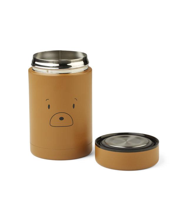 Liewood Bernard food jar - mr bear golden caramel