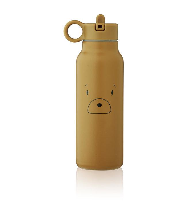 Liewood Falk water bottle - mr bear golden caramel