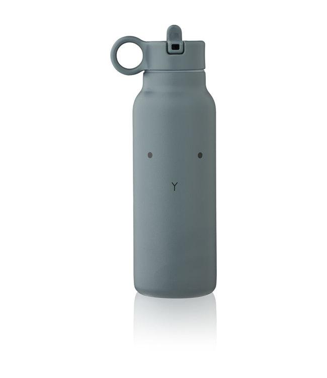 Falk water bottle - rabbit whale blue