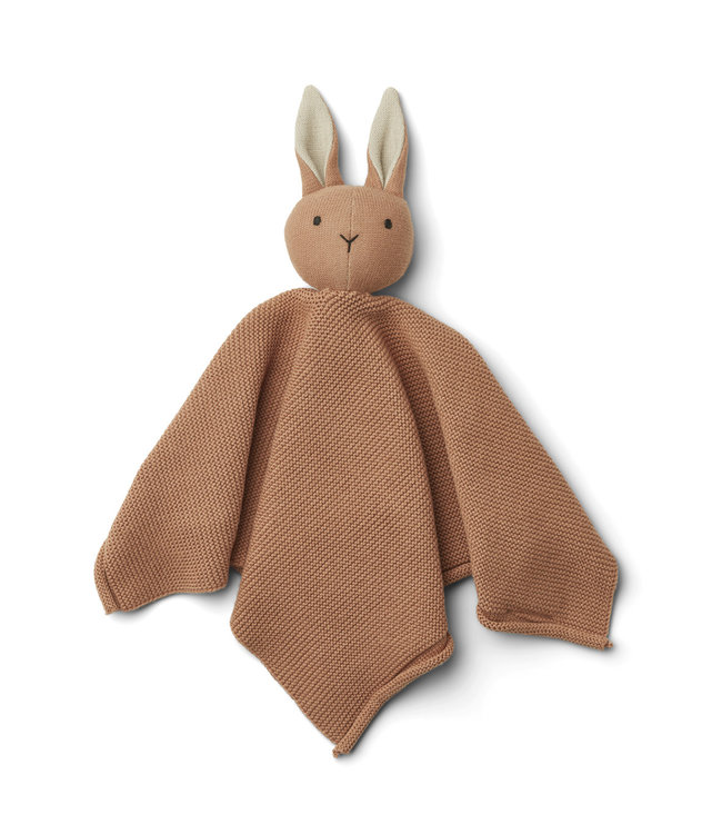 Liewood Milo knit knuffeldoek - rabbit tuscany rose