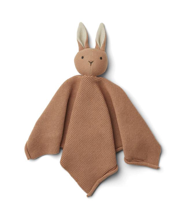 Milo knit cuddle cloth - rabbit tuscany rose
