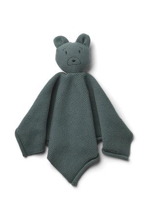 Liewood Milo knit knuffeldoek - mr bear whale blue