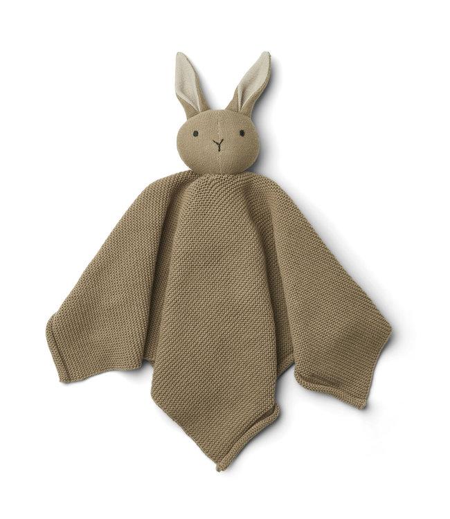 Milo knit knuffeldoek - rabbit oat