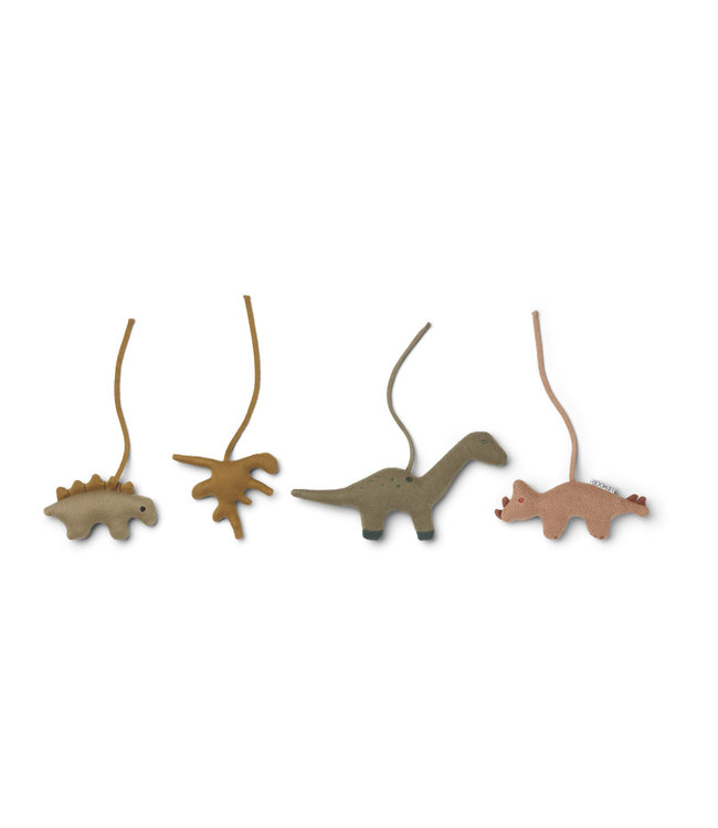 Gio playgym accessories - dino golden caramel/multi mix