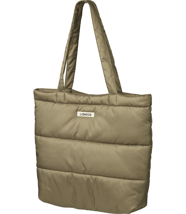 Constance quilted tote bag - khaki