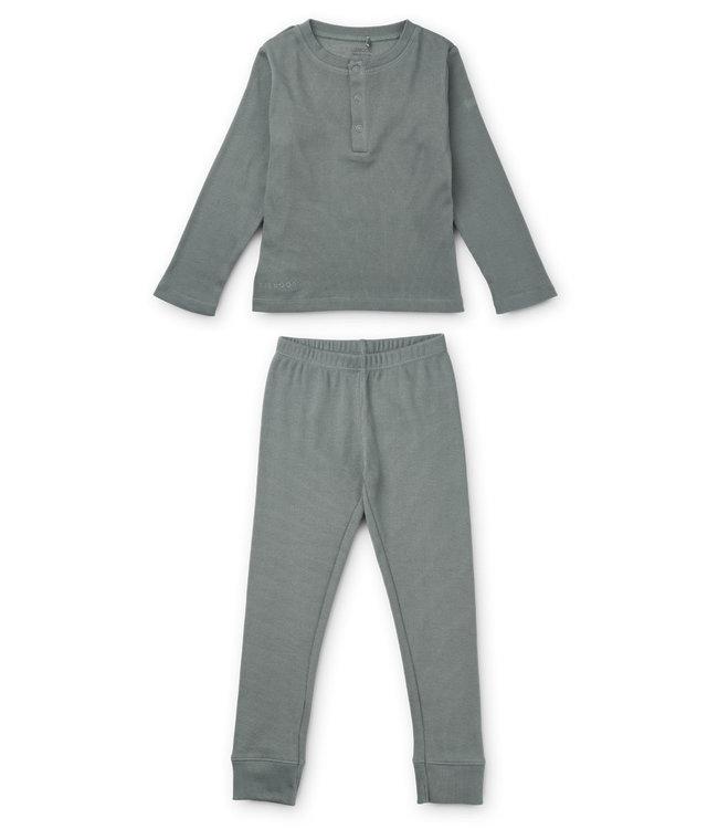 Liewood Wilhelm pyjama set - blue fog