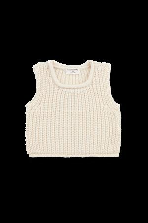 1+inthefamily Gabriel newborn vest - ecru