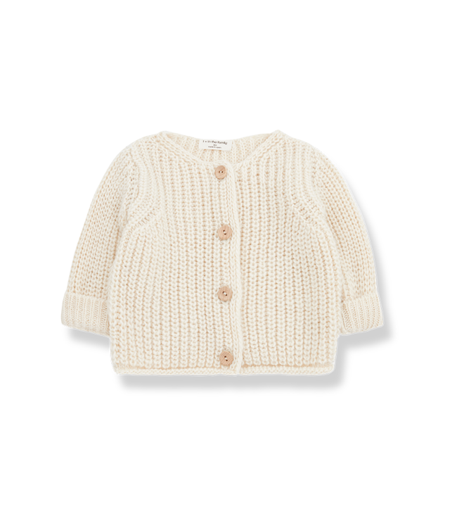 1+inthefamily Rea newborn jacket - ecru