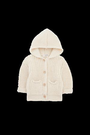1+inthefamily Ubald newborn jacket - ecru