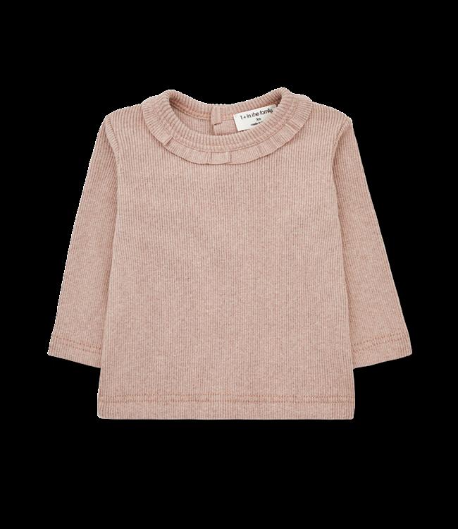 1+inthefamily Elia girly t-shirt - rose