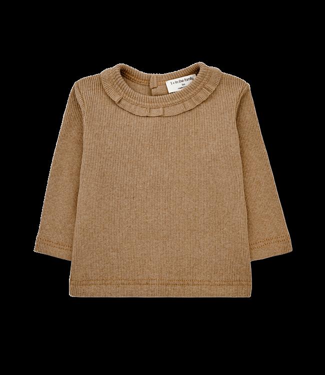 1+inthefamily Elia girly t-shirt - brandy