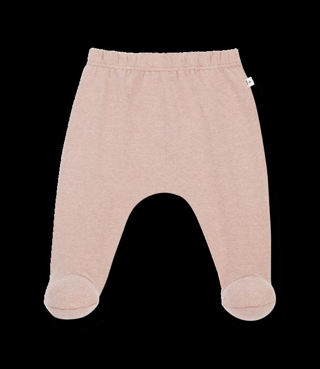 1+inthefamily Rim leggings w/feet - rose
