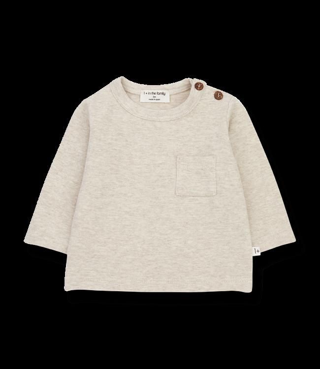 1+inthefamily Oriol t-shirt - alabaster