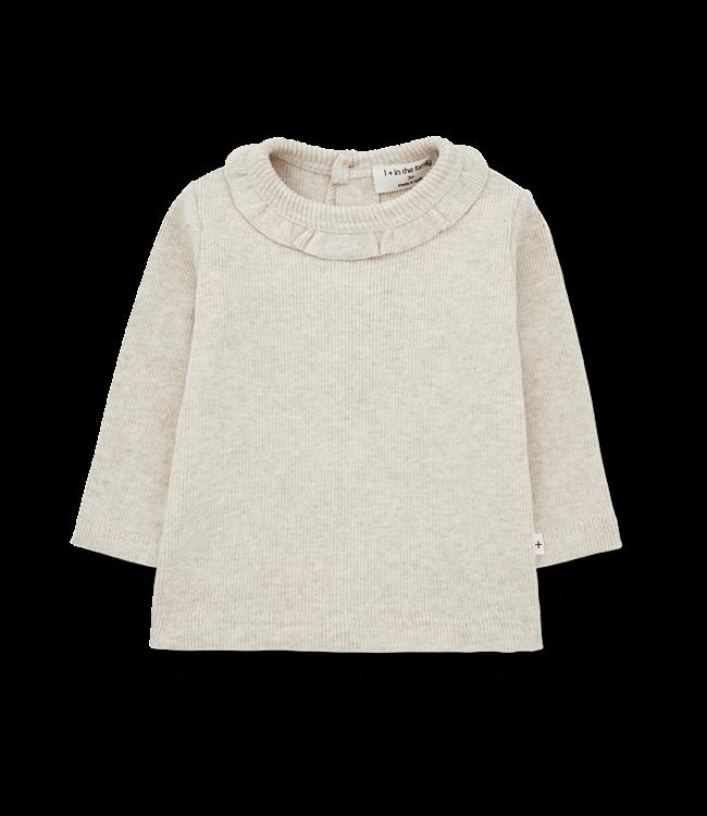 1+inthefamily Elia girly t-shirt - alabaster