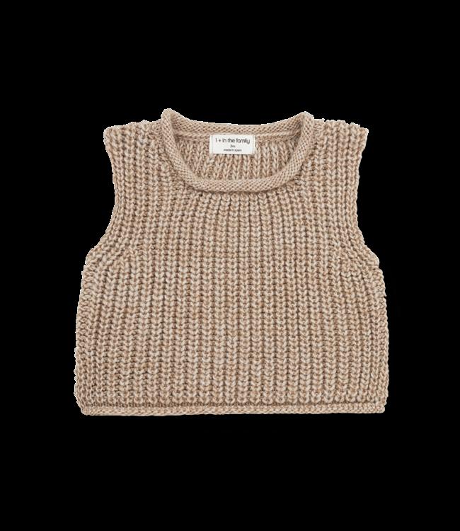 1+inthefamily Gabriel baby vest - beige