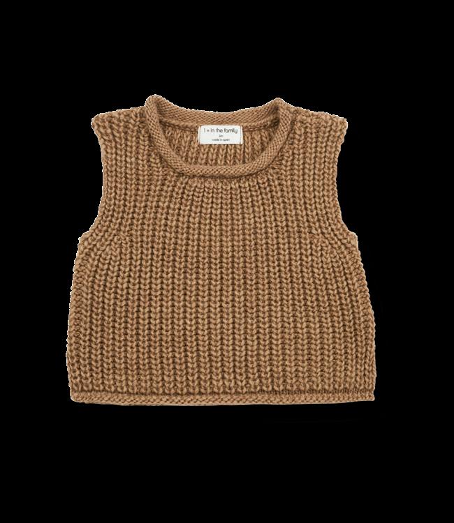 1+inthefamily Gabriel baby vest - brandy