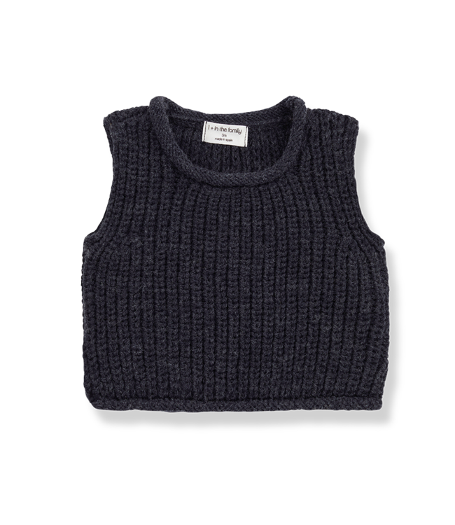 1+inthefamily Gabriel baby vest - charcoal