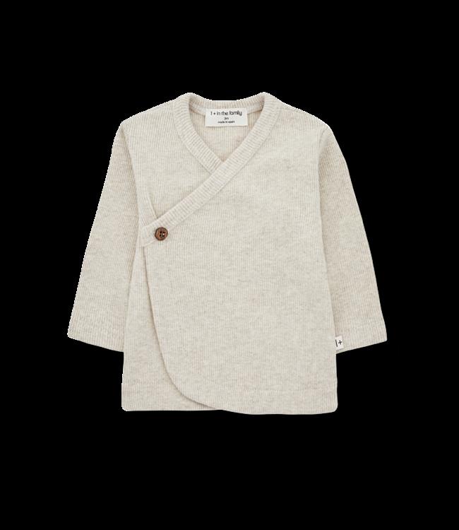1+inthefamily Fiona newborn shirt - alabaster