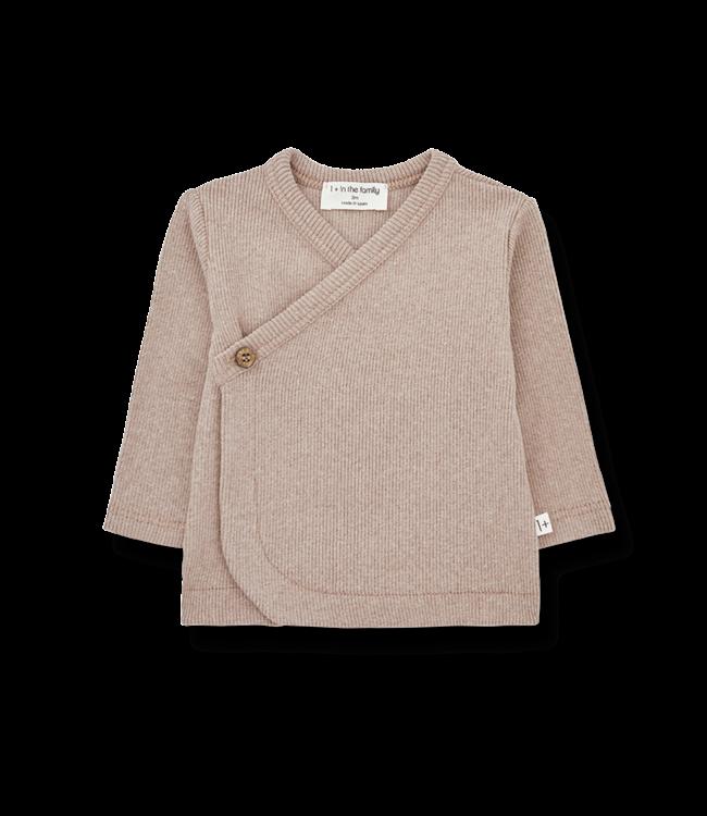 1+inthefamily Fiona newborn shirt - rose