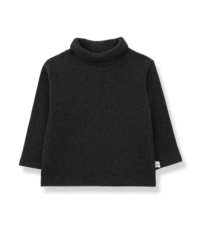 1+inthefamily Ares turtleneck top - charcoal