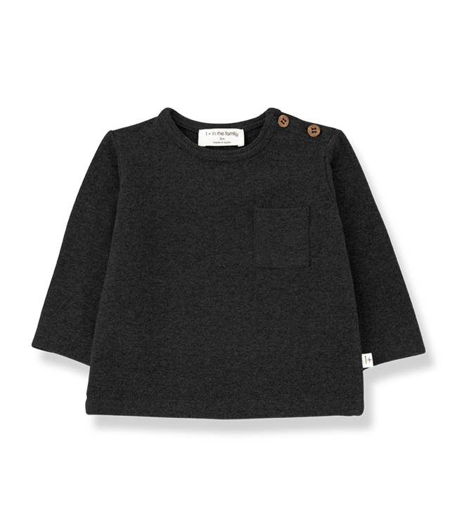 1+inthefamily Oriol t-shirt - charcoal