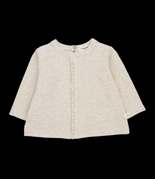 1+inthefamily Dalia girly t-shirt - alabaster