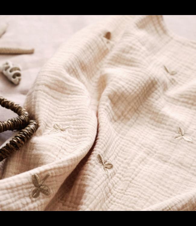Gentil Coqueliquot Blanket embroidered - clovers