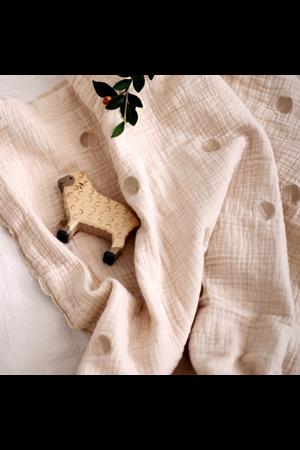 Gentil Coqueliquot Blanket embroidered - apples