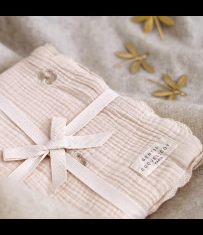 Blanket embroidered - flower