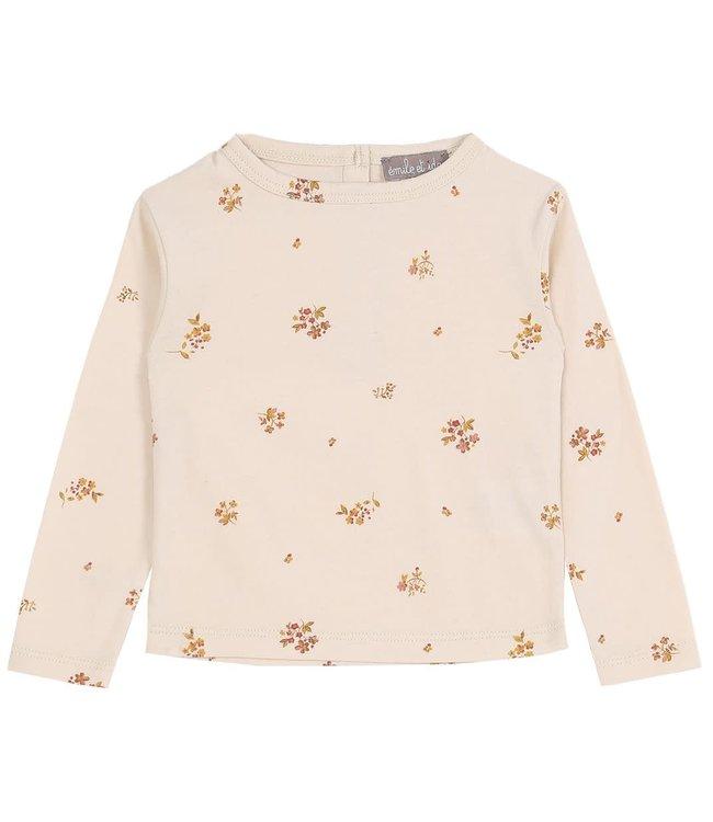 Tee shirt - fleurs coquille
