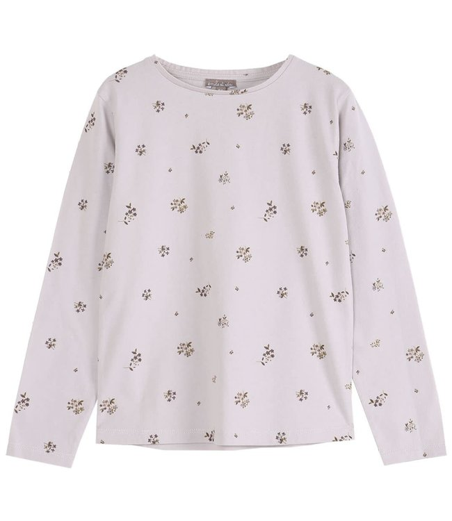 Emile et ida Tee shirt - fleurs brume