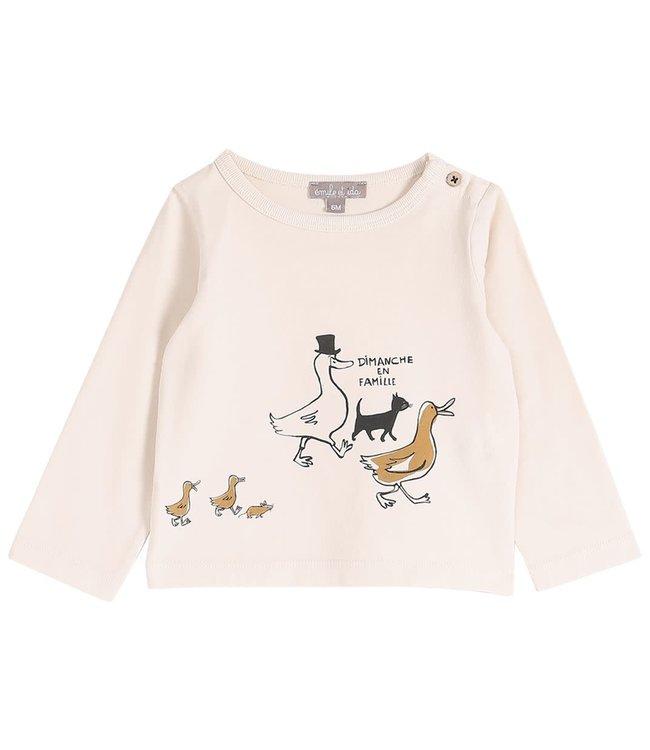 Emile et ida Tee shirt - coquille en famille