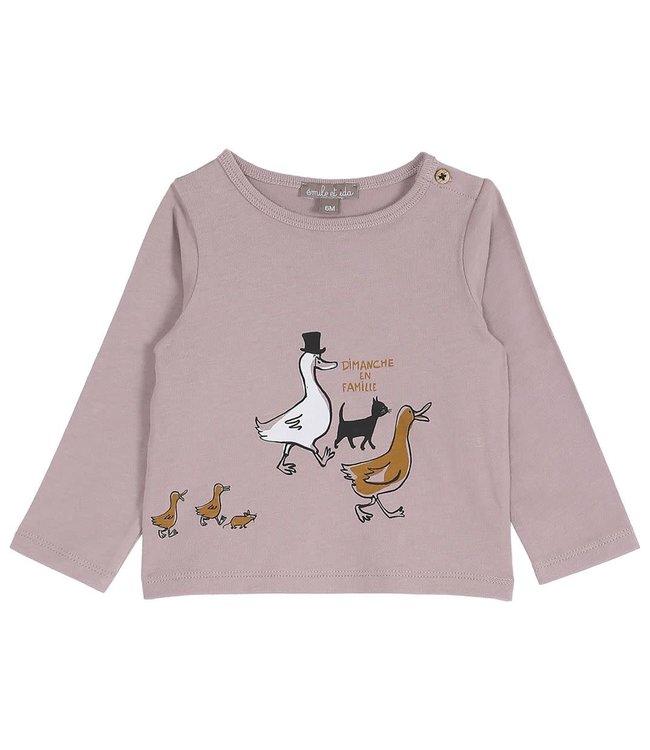 Tee shirt - violette en famille