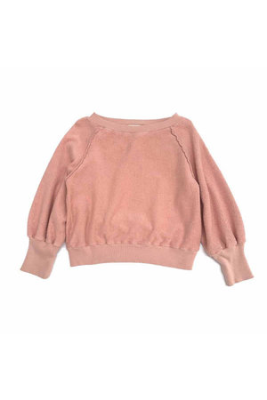 Long Live The Queen Terry sweater - old rose