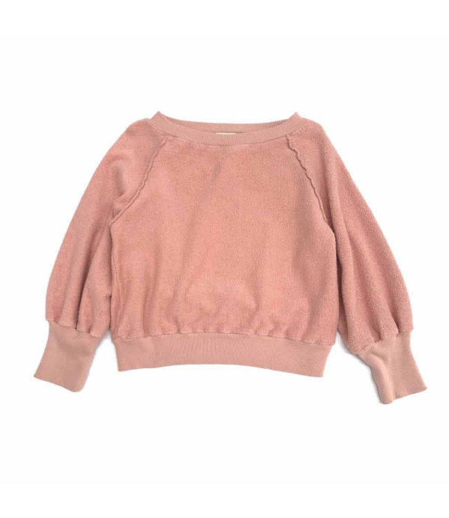 Terry sweater - old rose