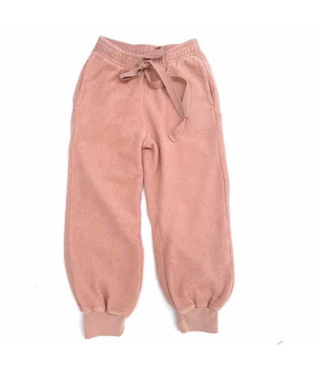 Terry joggers - old rose
