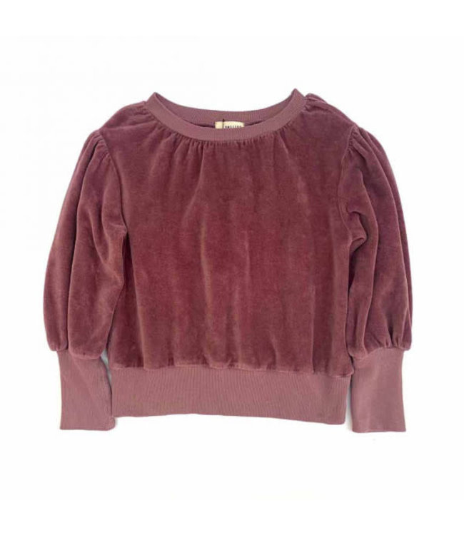 Long Live The Queen Puffed sweater - grape