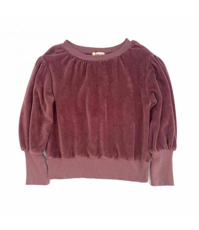 Puffed sweater - grape