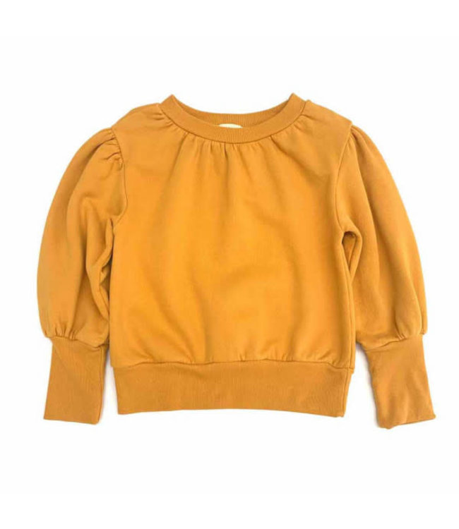 Long Live The Queen Puffed sweater - mineral yellow