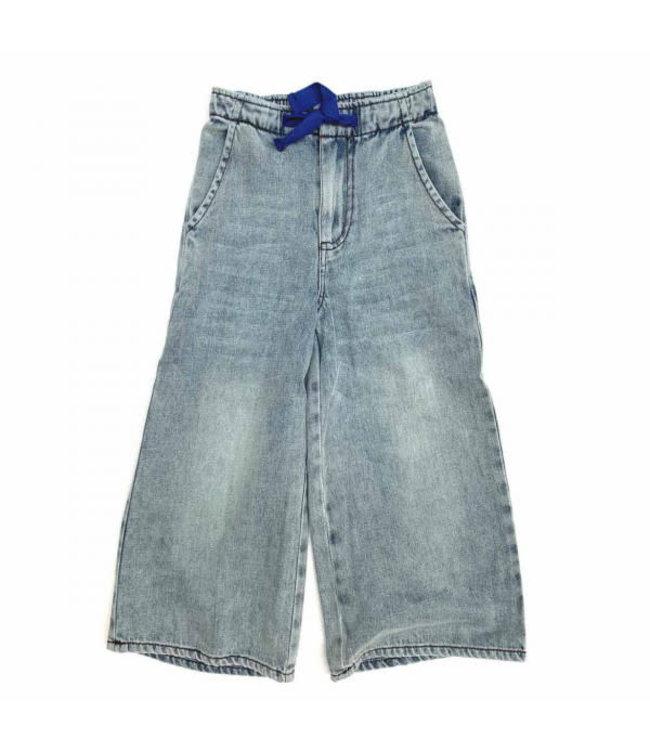Wide leg jeans - faded denim
