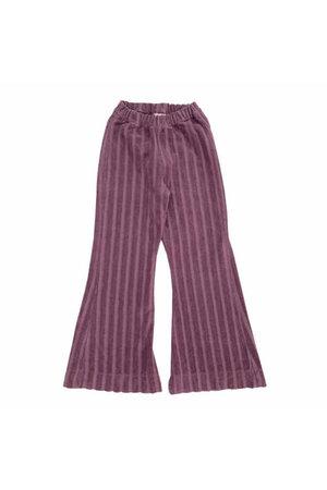 Long Live The Queen Ribvelvet pants - grape