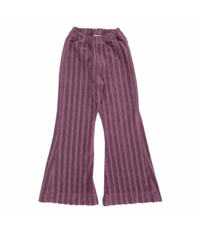Ribvelvet pants - grape