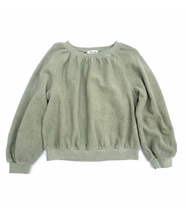 Long Live The Queen Terry sweater - green tea