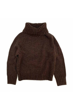 Long Live The Queen Sweater with coll - dusty choc
