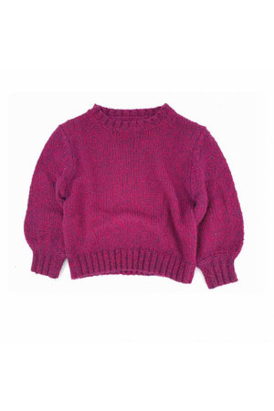 Long Live The Queen Rough sweater - wine twist